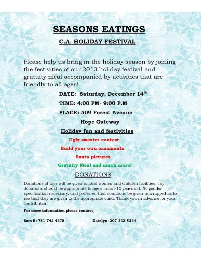 CA Holiday Festival